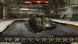 Customizable Garage in World of Tanks